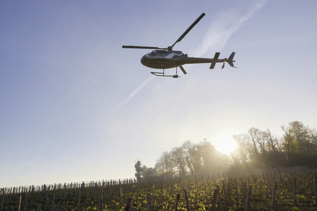 Travail aerien - Lutte anti gel - Mont Blanc Hélicoptère Oléron